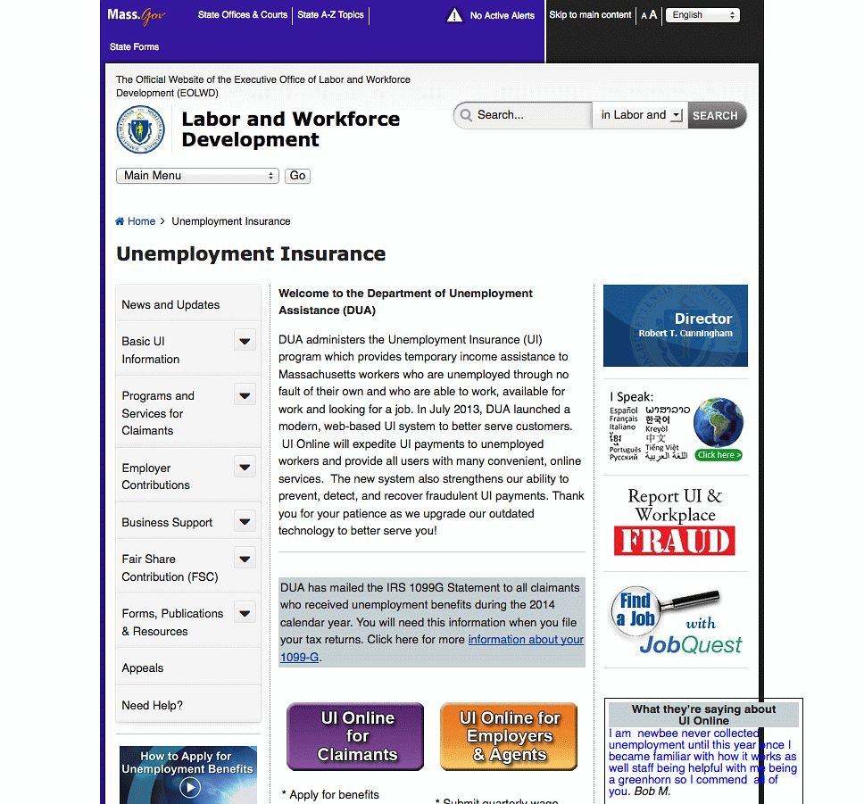 Massachusetts Executive Office of Labor and Workforce Development