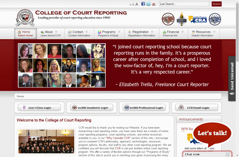 college of court reporting inc