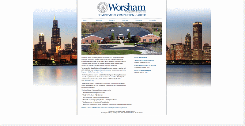 worsham college of mortuary science - Resume For Mortuary Science