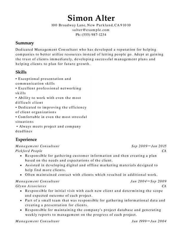 management chronological resumes resume help
