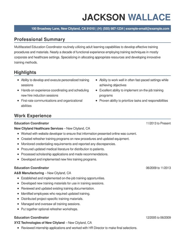 Education Combination Resume