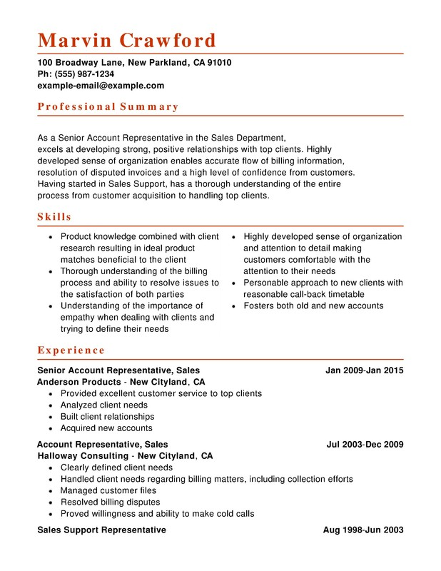 Combination resume example