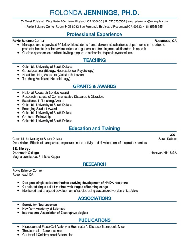 Science Combination Resume  Resume Help